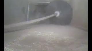 Очистка воздуховодов с использованием машины EFS с электрическим гибким валом